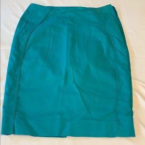 White House Black Market pencil skirt teal size 8
